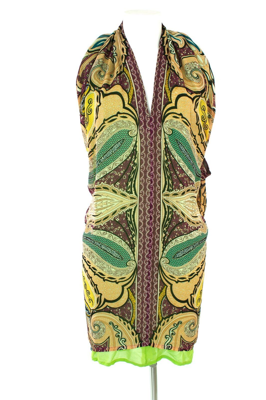 ETRO Kleid Dress Robe Tuniken Seide Damen GR. IT 40/ DE 34 Mehrfarbig