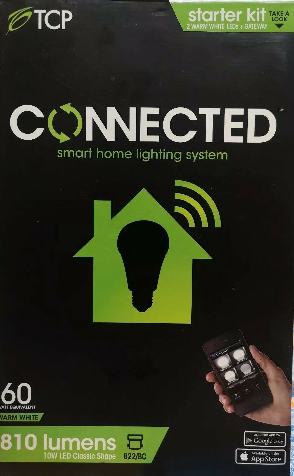 7 × TCP Connected SmartHome Starter Kit complete with 2 B22 BC bulbs