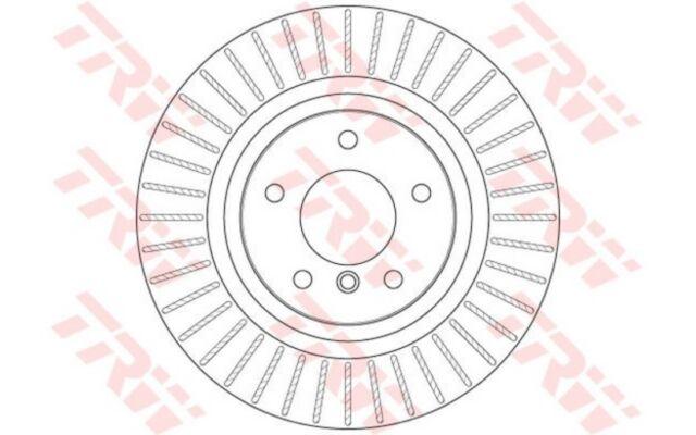 1x TRW Disco de Freno Trasero Ventilado 330mm DF6352S