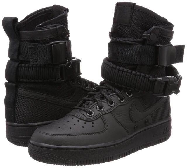Women's Nike Special Field SF Af1 Air Force 1 Black 857872-002 Size 8