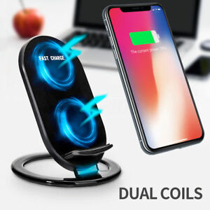 kabellos qi induktive fast ladestation wireless charger. Black Bedroom Furniture Sets. Home Design Ideas
