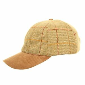 bc0ed72f721 Details about Mens Ladies Unisex Tweed Baseball Cap Hat Faux Suede Peak One  Size