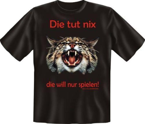 Geil Imprimé Fun T-Shirt Shirts-Le chat fait Nix-Cadeau d/'anniversaire
