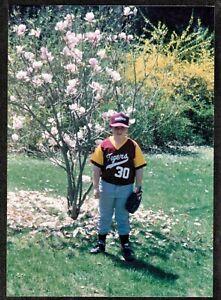 Vintage Photograph Little Boy Wearing Baseball Uniform in ...