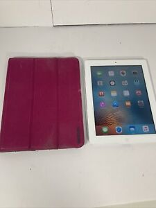 Apple iPad 2 A1395 16GB Silver Touchscreen Tablet With Case! - FREE SHIPPING!