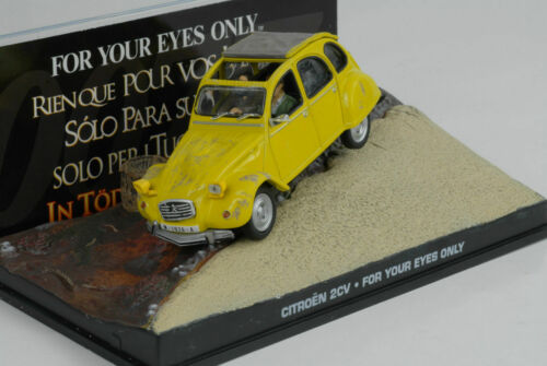 Movie James Bond 2 CV Ente yellow  For your eyes only 1:43 Ixo Altaya