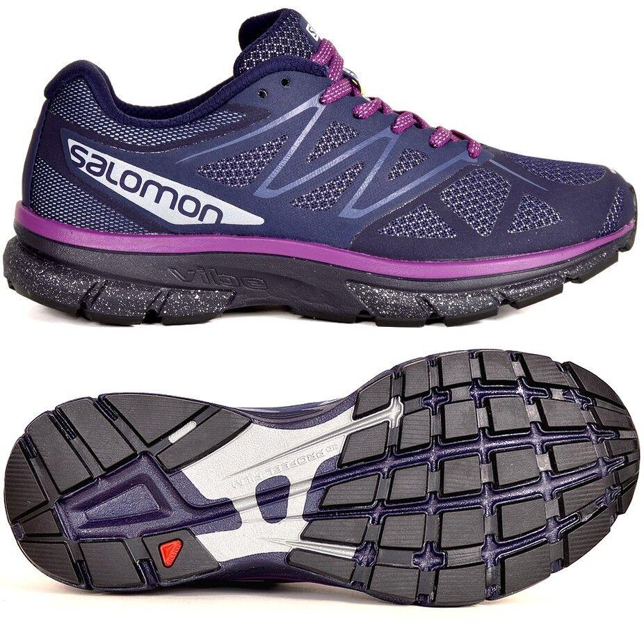SALOMON  SONIC NOCTURNE W  Damen Laufschuhe Sport Schuhe Outdoor schuhe blau Rosa