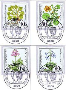 Analytique Rfa 1981: Vulnérables Plantes! Providence Nº 1108-1111 Avec Cachet De Bonn! 1801-afficher Le Titre D'origine