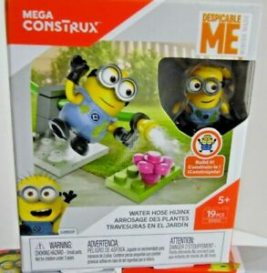 Mega-Construx-DESPICABLE-ME-MINIONS-Water-Hose-Hijinx-Builing-Toy-Set-DYD33-NEW