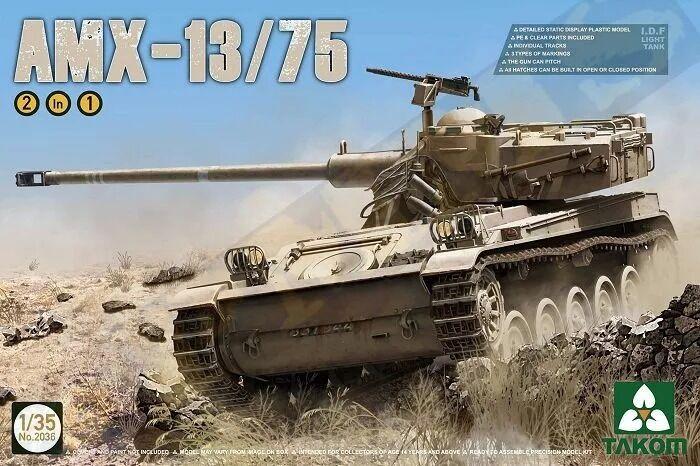 Takom 2036 1 35 I.D.F Light Tank AMX-13 75
