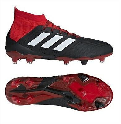 ADIDAS Predator 18.1 FG NERO BIANCO ROSSO DB2039 Scarpe Da Calcio UK 6 9.5 | eBay