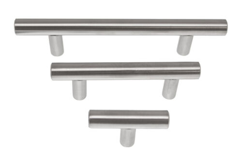 Pack 10 Stainless Steel Pull Bar Handle For Drawer Kitchen Cabinet Hardware