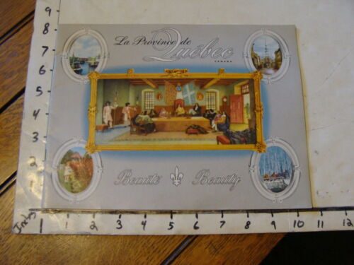 Vintage travel memorabilia: QUEBEC: la province de Quebec BEAUTY