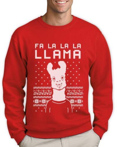 Fa La La Llama Ugly Christmas Sweater Xmas Funny Sweatshirt Gift Idea