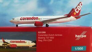 Herpa-Wings-1-500-531399-Corendon-Dutch-Airlines-Boeing-737-800-PH-CDH-H