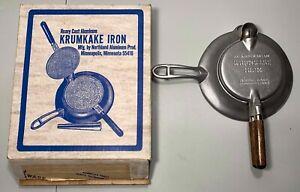 Vintage Krumkake Iron Aluminum Nordic Ware
