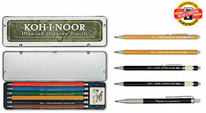 Mechanical-Pencil-Clutch-Leadholder-2mm-KOH-I-NOOR-Versatil-Metal