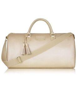 Image Is Loading Michael Kors Gold Metallic Weekender Duffle Duffel Bag
