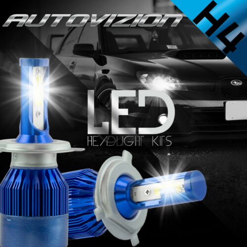 AUTOVIZION LED HID Headlight kit H4 9003 6000K for 1998-2002 Mazda 626
