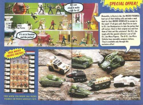 1991 GI Joe ESCAPE FROM DOOM insert Micro vehicle Rampage mail away JTC P928