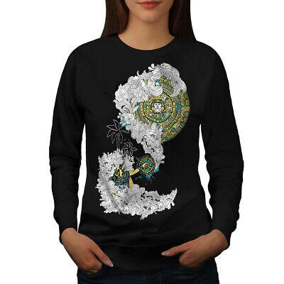 Hart Arbeitend Wellcoda Vintage Aztec Ornament Womens Sweatshirt, Asian Casual Pullover Jumper Klar Und Unverwechselbar