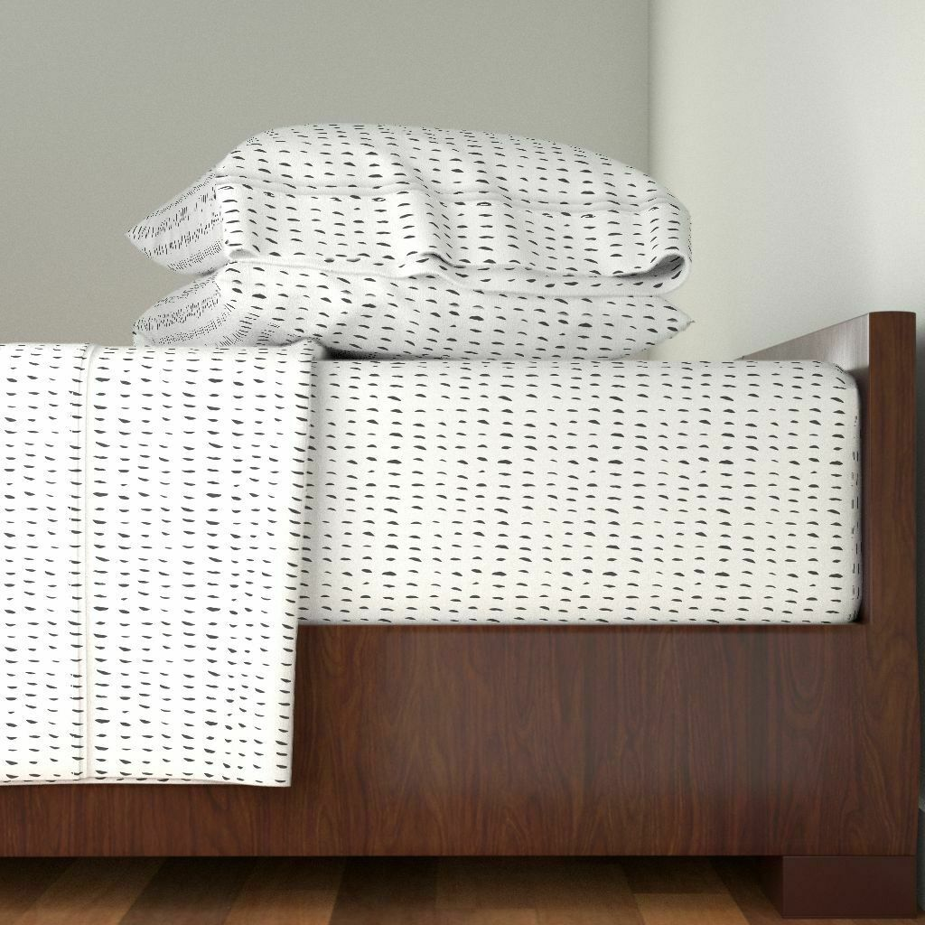 Dahses Minimalism Boho Tribal Sketch 100% Cotton Sateen Sheet Set by Roostery