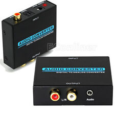 Digital Optical Coaxial Toslink RCA to Analog R/L  Audio Cable Converter Adapter