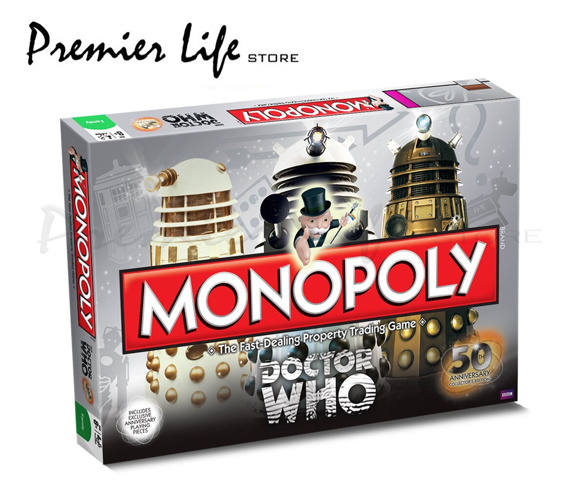 Doctor Who 50th Anniversary Edition Monopoly Trading Game