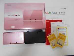 Z11495-Nintendo-3DS-Misty-pink-console-Japan-N3DS-Junk-For-parts-w-box-DHL