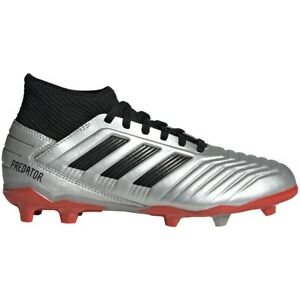Details about Adidas Kids' PREDATOR 19.3 FG FIRM GROUND J Soccer Shoes  Silver/Black G25795 d