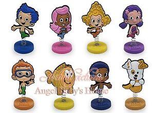 Surprising Bubble Guppies Birthday Cake Topper Set Of 8Pc 1 4 X 1 1 2 Ebay Personalised Birthday Cards Veneteletsinfo