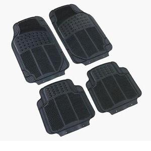 Ford Fiesta Focus Mondeo Ka Universal Rubber PVC Car Mats Heavy Duty 4 pcs
