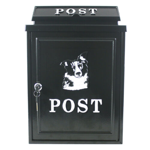 Post Box Letterbox Wall Mounted Sheep Dog Tractor Black Mailbox Lockable Vintage