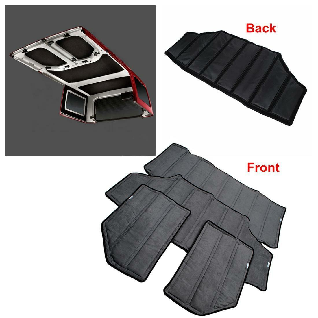 Blk hardtop sound deadener hinges heat insulation for jeep for Front door insulation kit