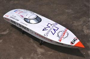 G26IP1White-Prepainted-Gasoline-RC-Boat-Hull-KIT-Only-for-Advanced-Player