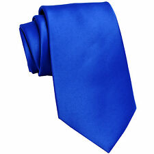 New Polyester Men/'s Neck Tie only solid formal wedding prom party work white