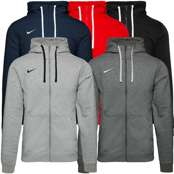 Nike Team Club Full Zip Hoodie Herren Freizeit Jacke Outdoor Kapuzenjacke AJ1313