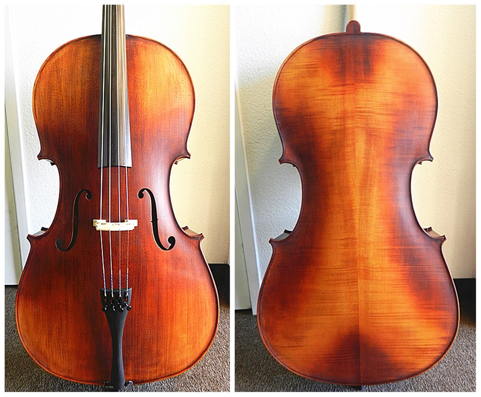 Advanced 4 4 Full Size Cello France Bridge, Helicore Strings,Ready to Play,NEW