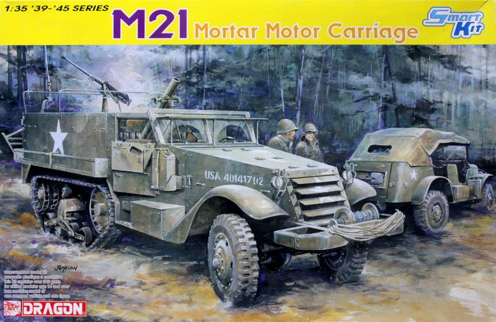 Dragon Models 1/35 M21 Mortar Motor Carriage Smart Kit 6362