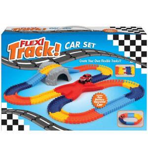 FLEXI TRACK CAR PLAYSET Flexible All Ages BRIDGE TUNNEL Birthday Gift BNIB UK