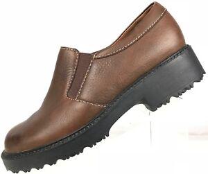 Zapatos De Cuero Clarks Mocasines Slip on Plain Toe Cómodo