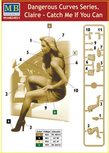 Bundle lot of 3 kits Master Box Dangerous Curves Series Girls plastic kit 1//24