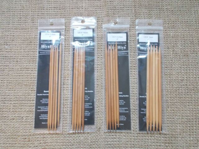 HiyaHiya doppia punta bambù da MAGLI FERRI, diverse taglie,15cm,15.2CM