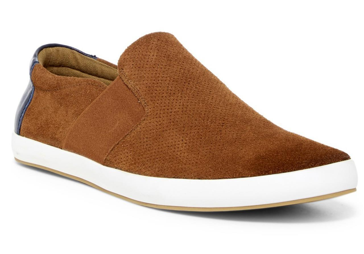 New in Box -  160 English Laundry Green Suede Slip-On Sneaker in Cognac Size 9