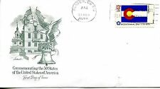 1976 STATE FLAGS COLORADO ARTMASTER CACHET UNADDRESSED FDC