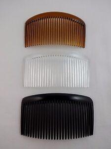 Brown Wavy Top Hair Combs Pack Of 2 Plain 7 cm Combs