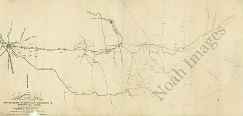 Reedyville Woodbury /& Bradyville TN c1865 repro Country between Murfreesboro