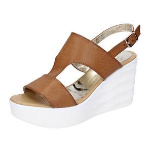scarpe-donna-QUERIDA-39-EU-sandali-marrone-pelle-BR159-39