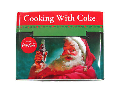 Coca-Cola Tin Recipe Box Santa Claus with recipes BRAND NEW
