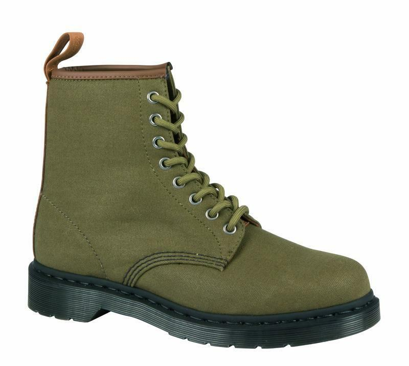 DR Martens 8 fori ORIGINALE 1460 canvas Grenade Green/Tan 21250343 ORIGINALE fori DOC 8671ef